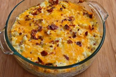 Twice-Baked Cauliflower: all the goodies of twice-baked potatoes without the carbs! Great Thanksgiving side dish.