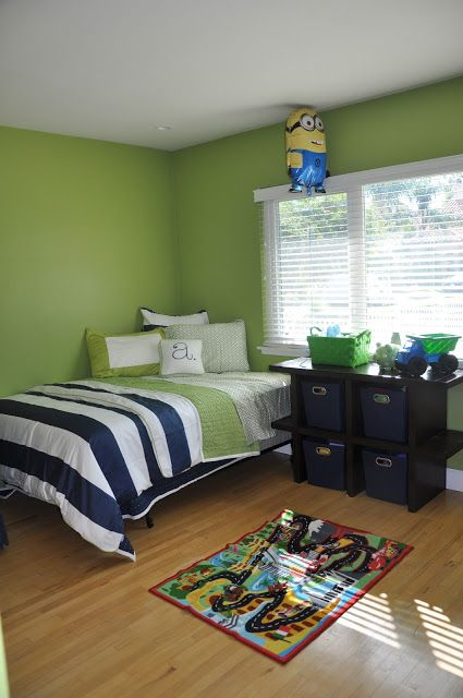 1000 ideas about green boys bedrooms on pinterest green for Blue and white boys room