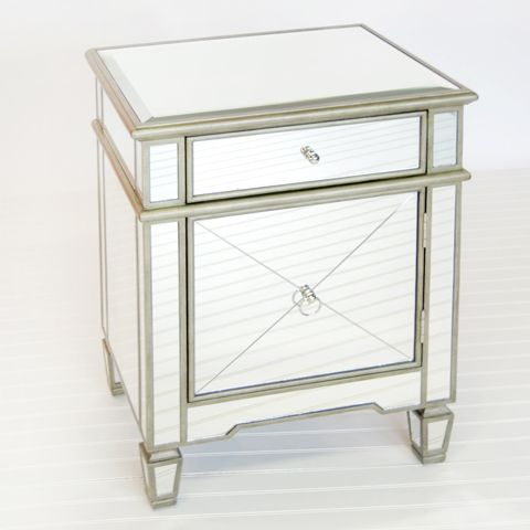 Worlds Away : Claudette Silver Nightstand: AVAILABLE FOR IMMEDIATE SHIP !!