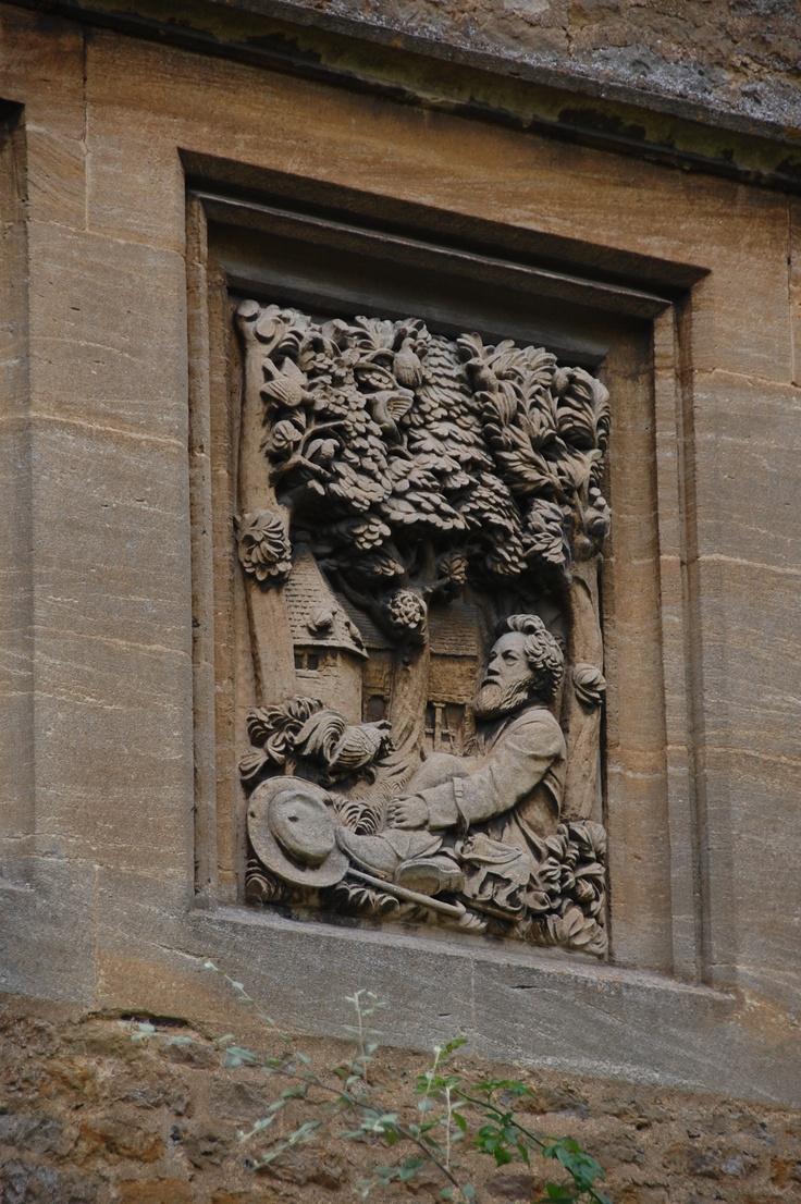 Carving Of William Morris