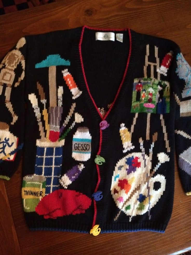 Artist Sweater, Woman's Size M #DesignOptions #Cardigan