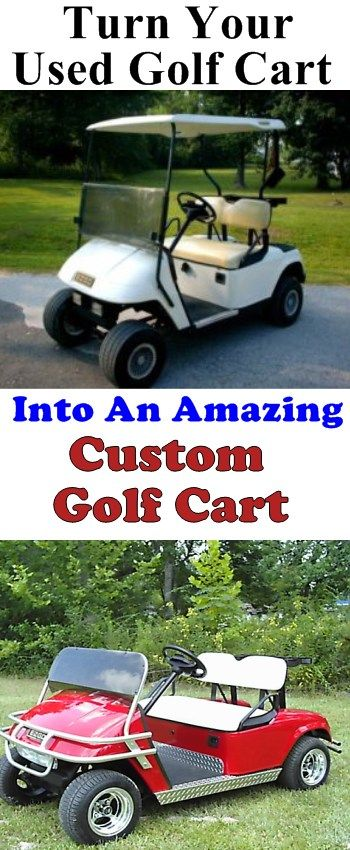 Custom Golf Carts That Will Really Turn Heads!    See More Amazing Golf Carts @ http://www.GolfCarts-USA.com   #UsedGolfCarts #CustomGolfCarts #GolfCarts