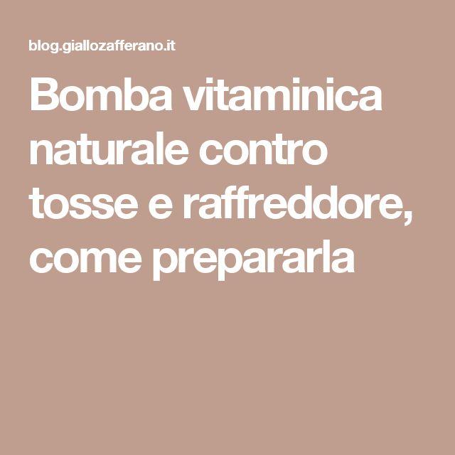 Bomba vitaminica naturale contro tosse e raffreddore, come prepararla