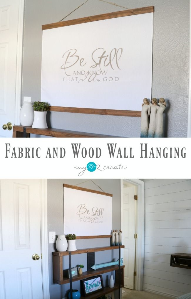 DIY Tutorial on how to make an easy Fabric and wood wall hanging. Home Decor Reader Challenge with Prize of a HomeRight Paint Package!! MyLove2Create