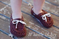Hopeful Honey   Craft, Crochet, Create: Toddler Boat Slippers ...