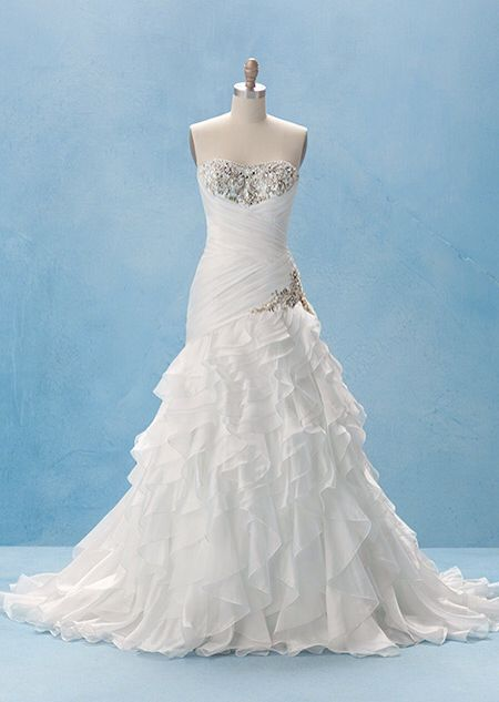 55 best disney wedding dresses images on pinterest for Princess jasmine wedding dress