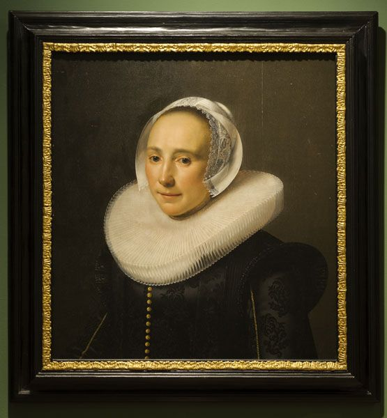 """""""Portrait of a Woman."""" mid 17th C. Oil on panel."""