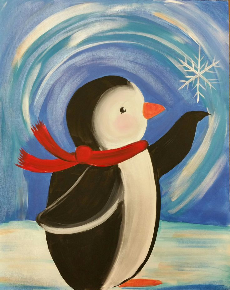 Image result for penguin painting