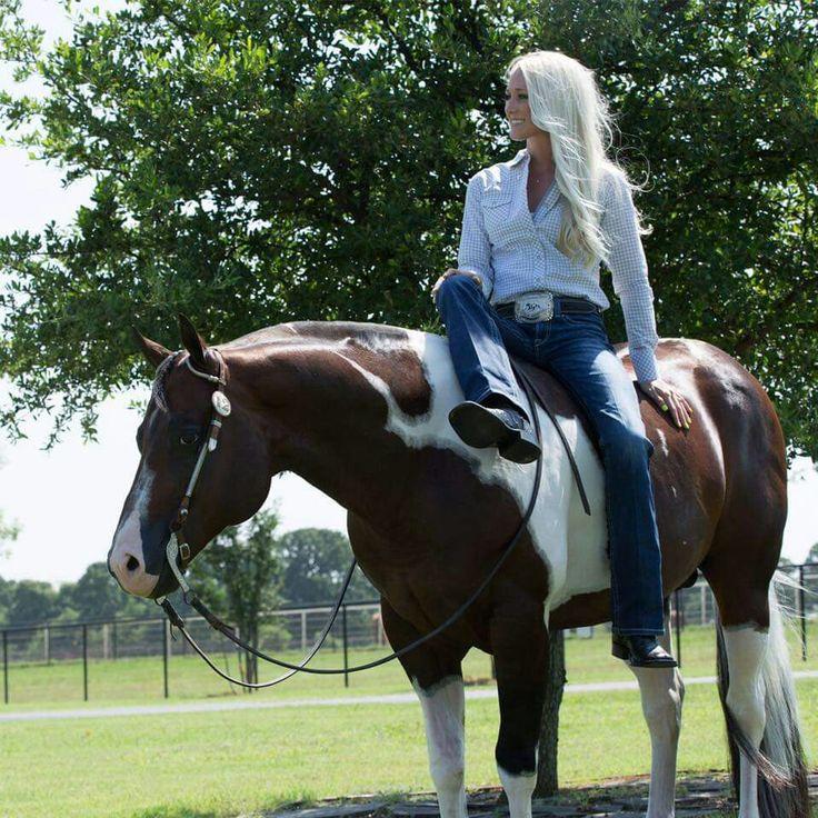 The sweet Erin Bradshaw and stallion John Simon.