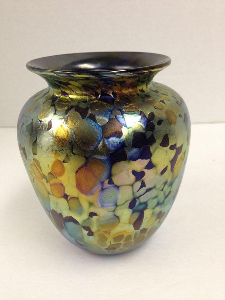 Arthur Allison Glassworks Signed Vase Pretty Vases Vase Hand Blown Glass Glass