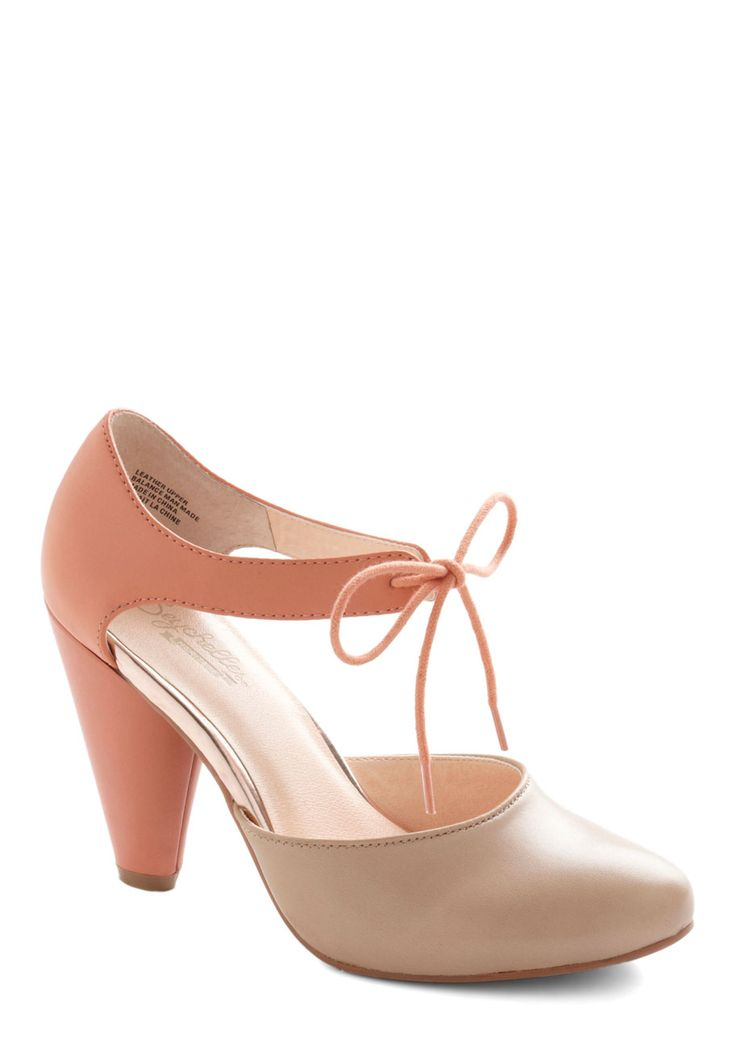 Saw a similar pair on anthropologie, so pretty! Close Your Eyes Heel in Coral, @ModCloth