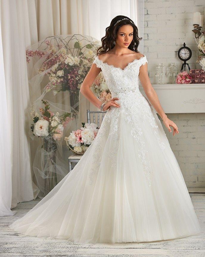 Romantic Vestido De Noiva Boat Neck Perfect Appliques With Beaded Abiti Da Matrimonio Girl Lace Up Wedding Dress 2015 Plus Size