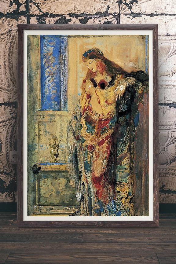The Toilette Painting By Gustave Moreau Vintage Art Nouveau Inspired Wall Art Print At Retrograde Ink We Vintage Art Paintings Vintage Wall Art Prints Art