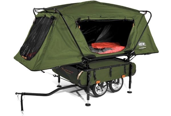 Pop-Up Camper for bicycle