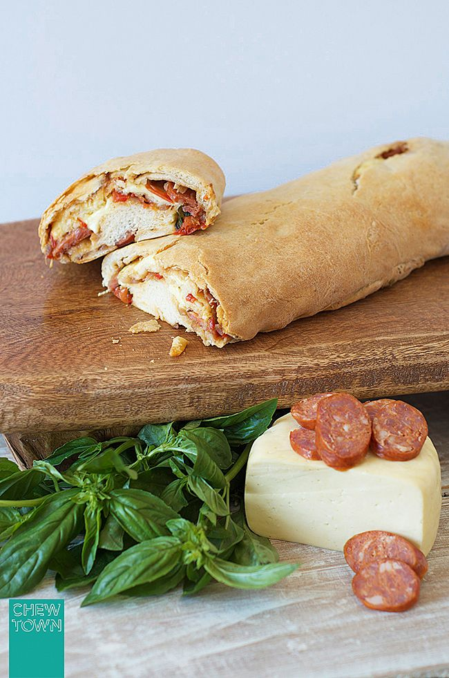 Rolled Pizza Loaf (Stromboli) Recipe | Chew Town Food Blog