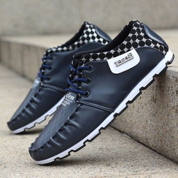 Men Breathable Casual Fashion Mesh Sport Flat Outdoor Sneakers - US$24.99