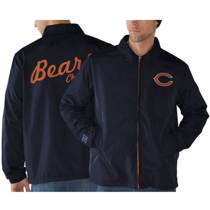 Chicago Bears Head Coach Full Zip Jacket - Navy Blue