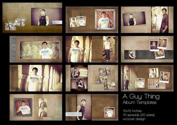 A guy thing album templates for photographers 10 x 10 for Wedding photo album templates in photoshop