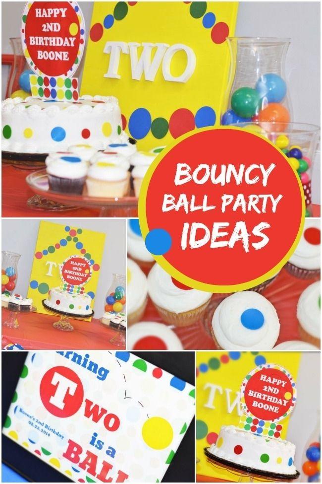 boy's bouncy ball party ideas www.spaceshipsandlaserbeams.com