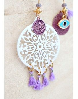 Σκουλαρίκια Jade Circle & Eye