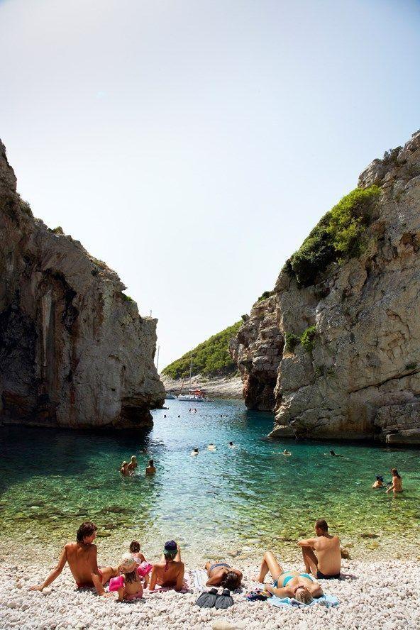 Stiniva Cove Beach On The Island Of Vis Croatia Croatia Beach Croatia Vacation Croatia Travel