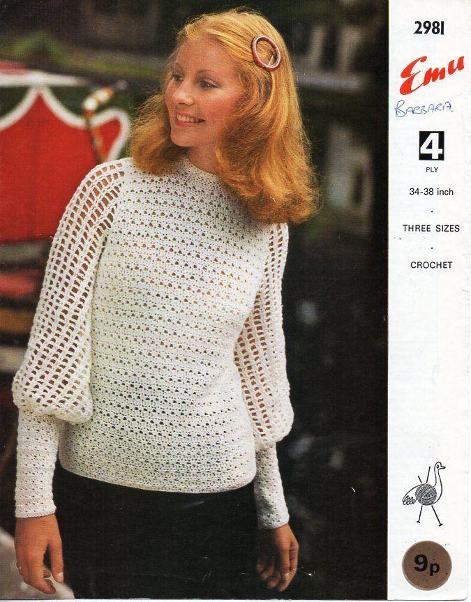 2cf25891458 vintage womens crochet top CROCHET PATTERN pdf ladies crochet blouse ...