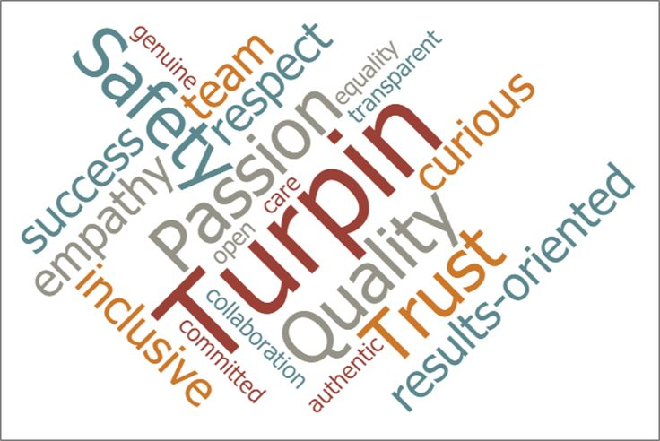 Inspired by a client and a conference: Turpin's Culture and What We Stand For