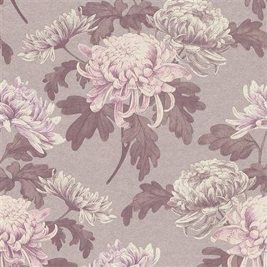 Calming natural vintage florals in pink tones creating depth and character |  Lilac Vintage Blossoms R3030 #wallpaper #pantone #rosequartz