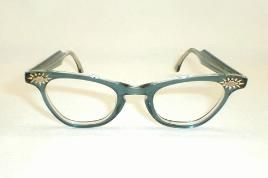 RonLady blue Sunburst catseye glasses