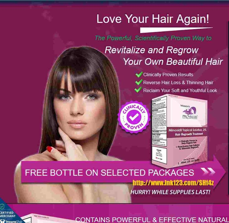 Provillus Hair Loss Treatment. More people are turning to PROVILLUS to PREVENT HAIR LOSS and REGROW HAIR with the only FDA APPROVED ingredient on the market. Rated NO.1 Hair Loss Treatment on the Market!