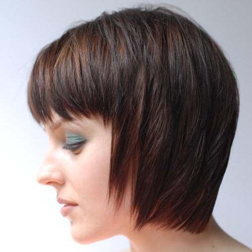 Inverted Bob Hairstyles 2014 Bobs With Shaggy Bangs Hair Beauty Etc Pinterest Inverted