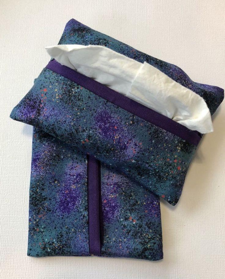 Purple and Teal Fabric Kleenex Tissue Holderss for Purse or Pocket- Handmade  | eBay