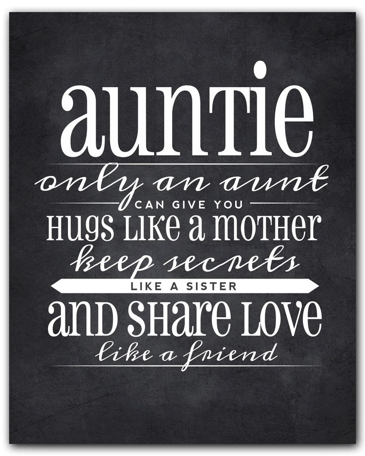 Auntie Gift, Auntie Quote Sign, Auntie Quote Chalkboard