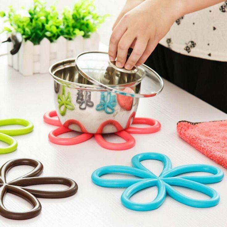 Plum Shaped PVC Kitchen  Anti Slip Placemat Heat Pad Insulation Mat  Hot Pot Table Placemat Doily  Kitchen Placemats #Affiliate