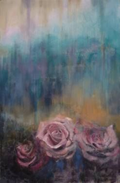 "Saatchi Art Artist Laura Beatrice Gerlini; Painting, """"A rose is a rose. N. 2"""" #art"
