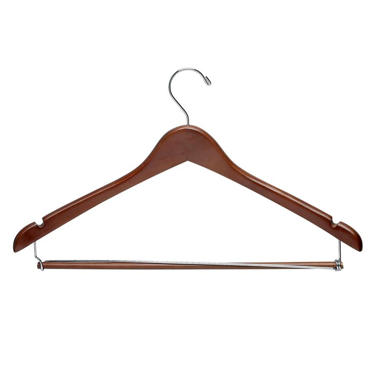 Honey-Can-Do Suit Hanger with Locking Bar - Cherry (Red) (6pk)