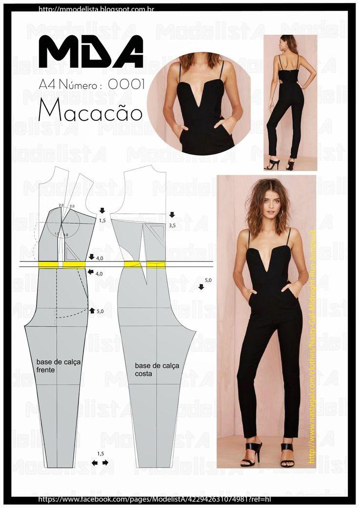 modelagem de macacão
