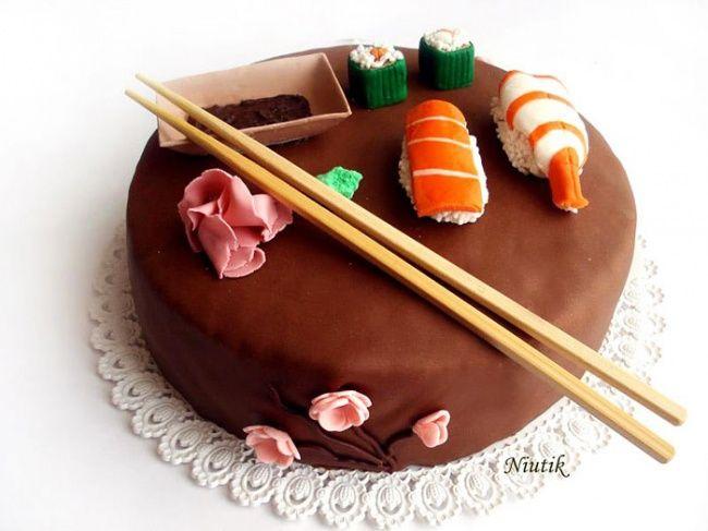 Эти торты настолько шикарны, что ихдаже есть жалко Суши-торт