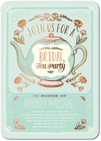 bridal shower tea party invitations tea poppies from wedding paper divas promo codes