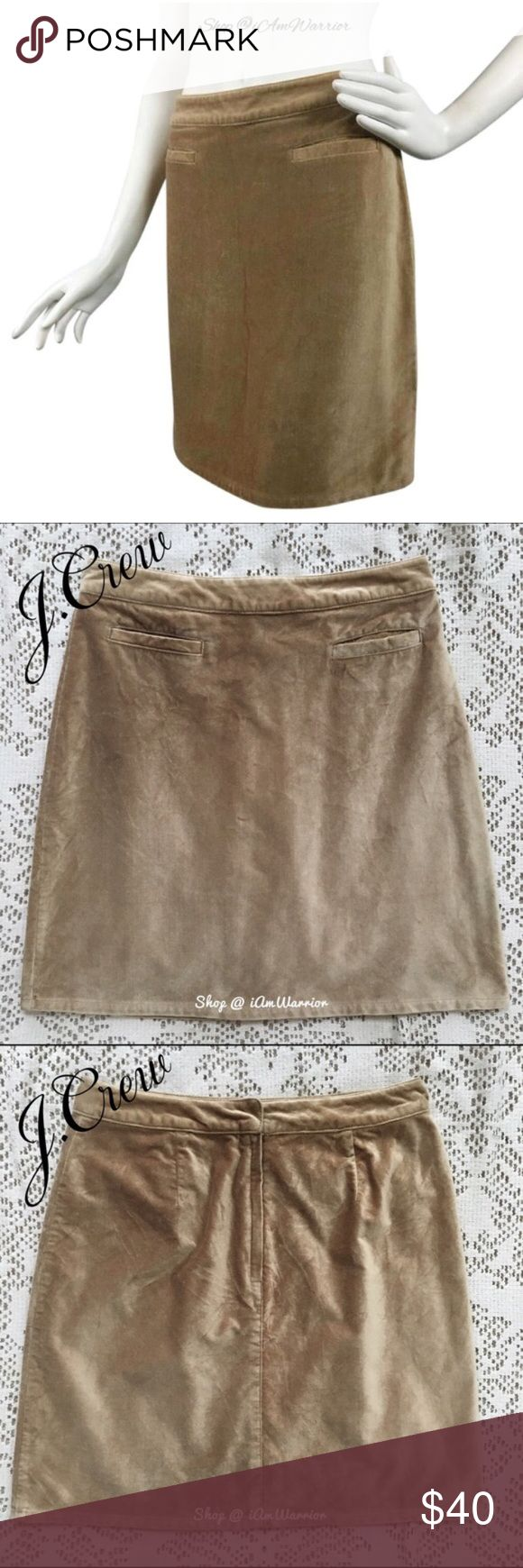 "🆕NWT J. Crew velvet mini skirt NWT J. Crew velvet mini skirt. Color is called almond, and depending on the light it looks tan to warm caramel in color. Sits at natural waist (just shy of 14"" across), so even though a size 8, it fits a size 6 better. 20"" long.❗Please read my recently updated 'about me and my closet' listing for pricing/policies. J. Crew Skirts Mini"