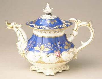 An ornately decorated porcelain teapot that is typical of the Rococo Revival of the 1830s-1840s. Find out more about our decorative art collections: http://www.liverpoolmuseums.org.uk/walker/collections/decorative-art/
