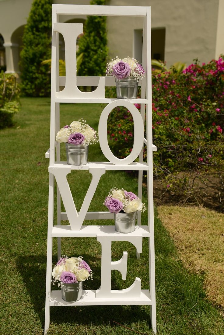L-O-V-E! The perfect accent to any wedding #SecretsRoyalBeach
