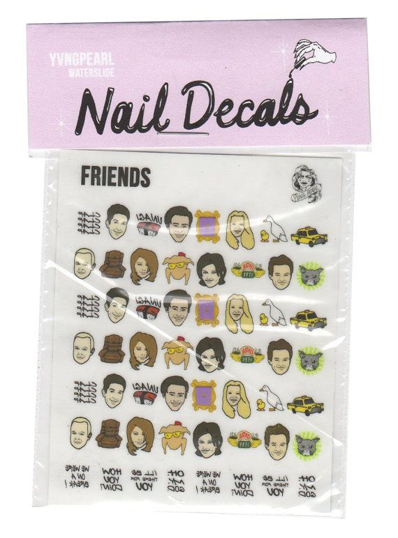 So no one told you life was gonna be this wayyyyyy - Friends nail decals