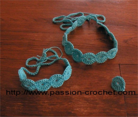 Amazing Necklace, bracelet and crochet ring set