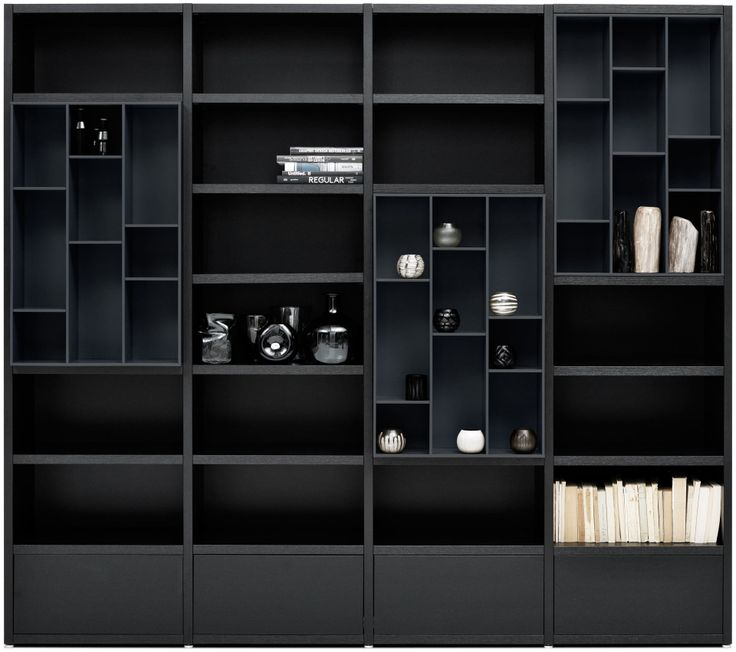 BoConcept Lecco in black-stained oak veneer/charcoal grey lacquered