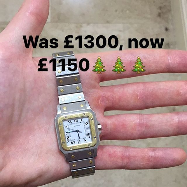 🎄Christmas deals!🎄 Cartier Santos Automatic, £1150 - cheapest around! Get in touch #Cartier #santos  #cartierwatch #cartiersantos  #watches  #instawatch #instalike #dailywatch #watchoftheday #swisswatches #swissmade #rolex #wealth #vinejewellers #rkoi #watchporn #watchgeek #watchfreak #watchquarter #christmas #billionairetoys #horology #mondani #luxurywatches