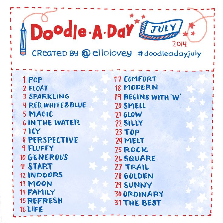 Rhi-Creations: Doodle a Day July!