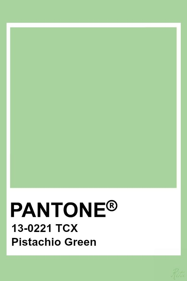 March Colors Pistachio Green Color Of The Day Pantone Cuber
