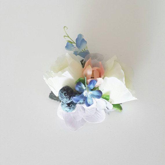 items similar to white garden rose hair clip