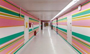 Bridget Riley Mural at St Mary's Hospital